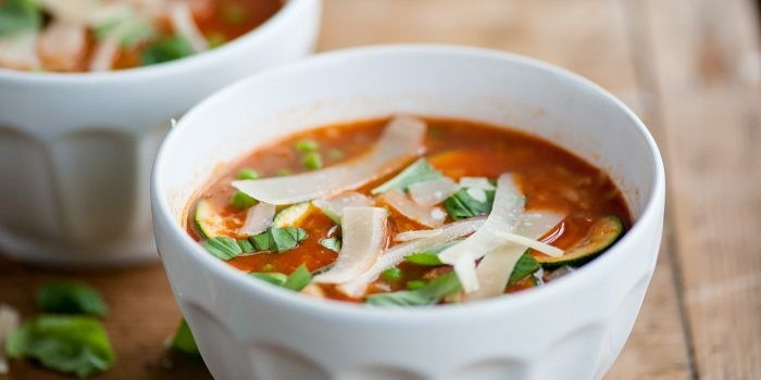 суп Минестроне с цукини
