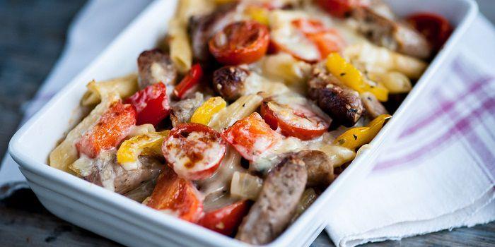 Паста с томатами черри и болгарским перцем от Марчелло Талли
