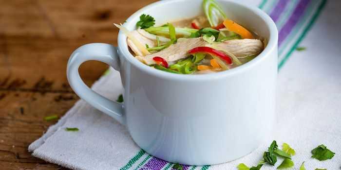 Тайский куриный суп с кокосовым молоком