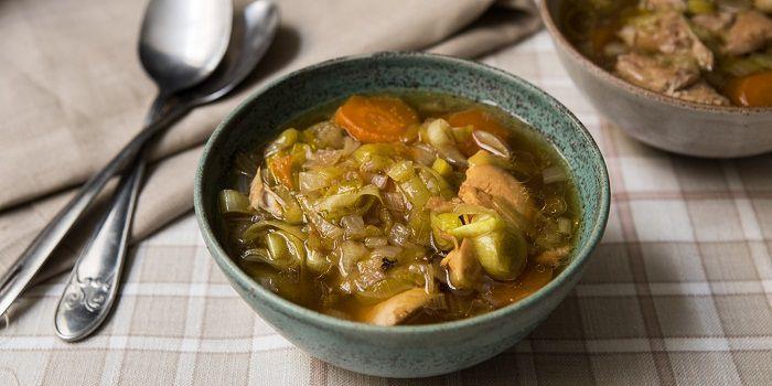 Зимний лике суп с курицей
