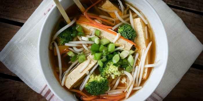Вегетарианский острый суп