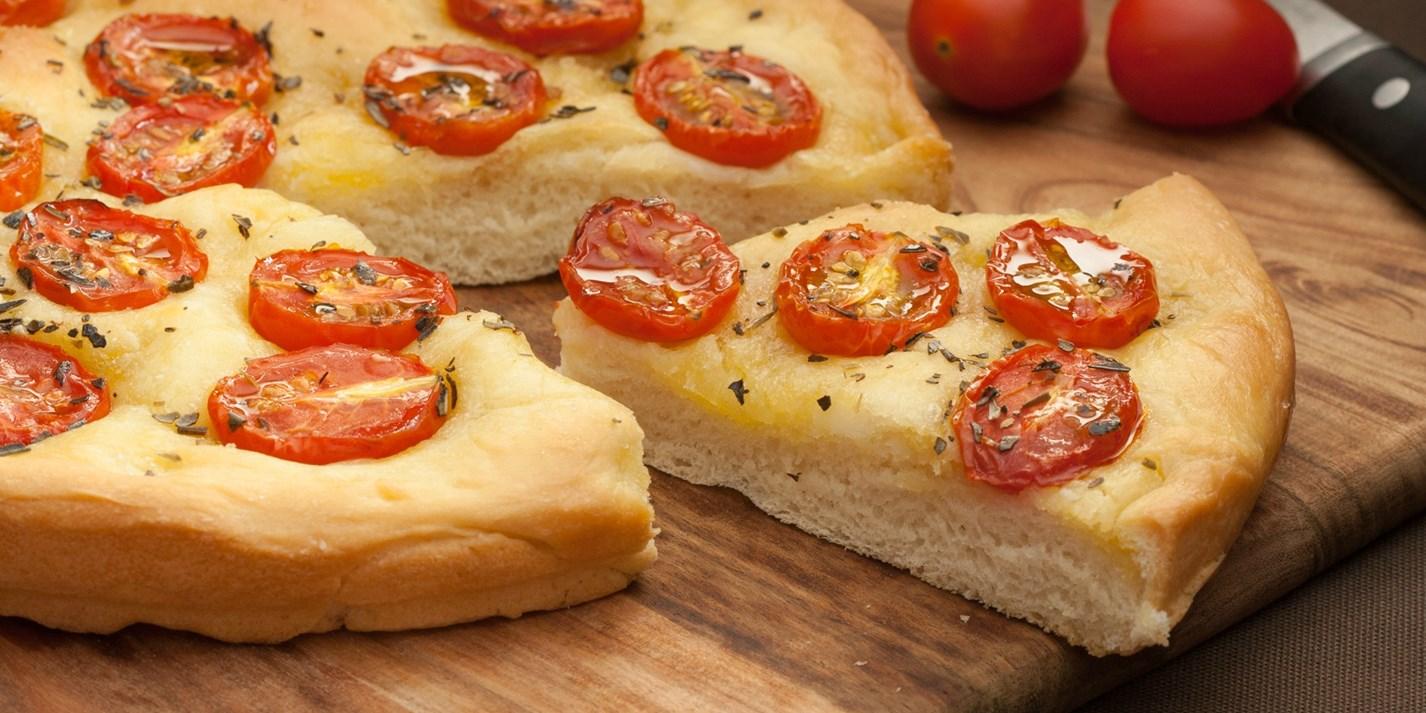 Chiabatta s pomidorami cherri